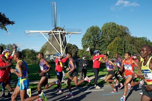 amsterdam marathon amstel river