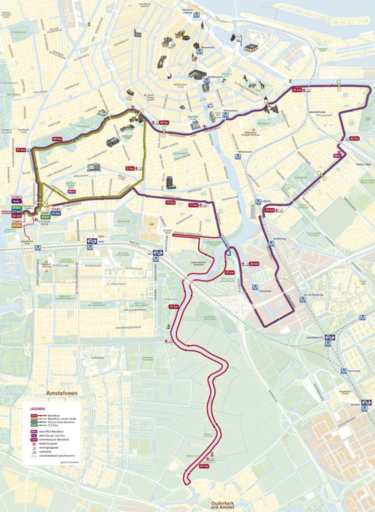 amsterdam marathon route