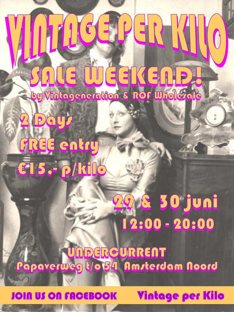 Vintage per kilo sale amsterdam june 29-30